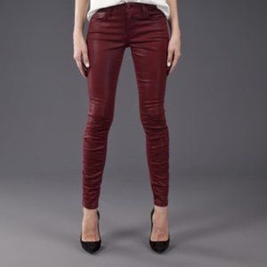 Joe's Jeans Wine Color High Rise Skinny Ankle